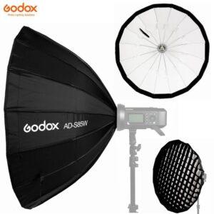 Godox AD-S85 je izuzetno kvalitetan brzosklopivi softbox namenjen za upotrebu sa Godox AD400, AD300, ML-60 glavama koje imaju godox kacenje.