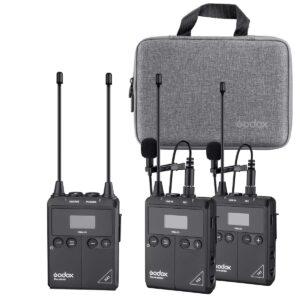 Godox WMicS1 Kit2 je izuzetno kvalitetan i povoljan bežični audio sistem. Godox WmicS1 bubice se sastoje od dva transmitera i jednog risivera